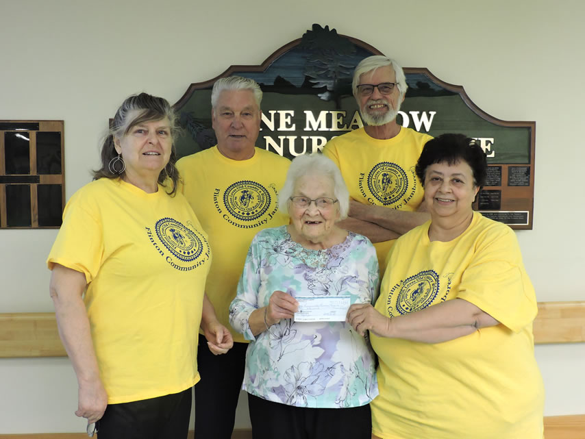 Pine Meadow Nursing Home Receives $1000 Cheque!